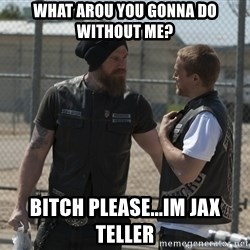 sons of anarchy - what arou you gonna do without me? bitch please...im jax teller