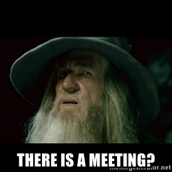 no memory gandalf - There is a meeting?