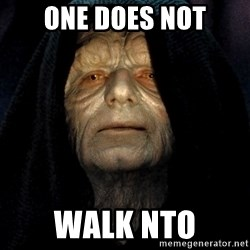 Star Wars Emperor - one does not walk nto
