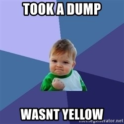 Success Kid - took a dump wasnt yellow