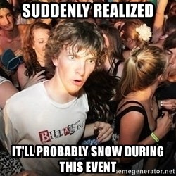 Sudden Realization Ralph - suddenly realized it'll probably snow during this event