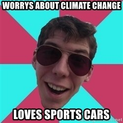 Hypocrite Gordon - worrys about climate change loves sports cars