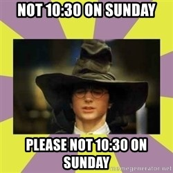 Harry Potter Sorting Hat - Not 10:30 on Sunday PLease not 10:30 on Sunday