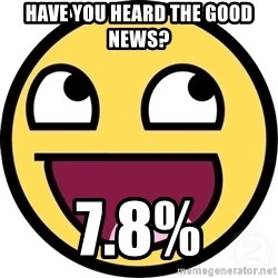 Awesome Smiley - Have you heard the good News? 7.8%
