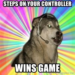Gamer Dog - steps on your controller wins game
