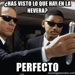 men in black - ¿Has visto lo que hay en la nevera? Perfecto