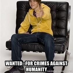 Justin Bieber Pointing - Wanted:::For crimes against humanity