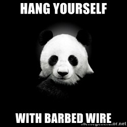 SuicidePanda - Hang yourself With barbed wire