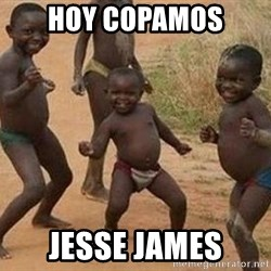 african children dancing - hoy copamos jesse james