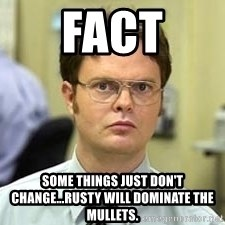 Dwight Shrute - Fact Some things just don't change...rusty wIll dominate the mullets.