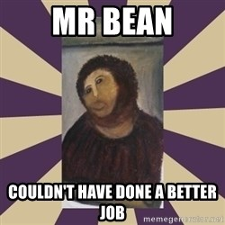Retouched Ecce Homo - mr bean couldn't have done a better job