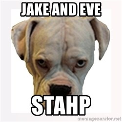 stahp guise - jake and eve stahp