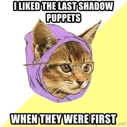 Hipster Kitty - i liked the last shadow puppets when they were first