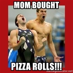 Ecstatic Michael Phelps - Mom Bought Pizza rolls!!!