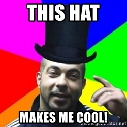 facebookazad - this hat  makes me cool!