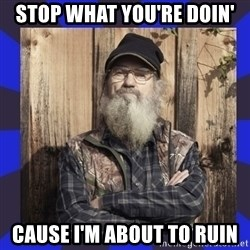 HEY... Si Robertson - Stop What you're doin' Cause I'm about to Ruin