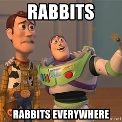 ORIGINAL TOY STORY - Rabbits Rabbits everywhere