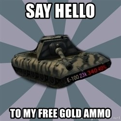 TERRIBLE E-100 DRIVER - say hello to my free gold ammo