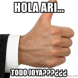 Thumbs Up Smutty Fanfiction - HOLA ARI... TODO JOYA???¿¿¿