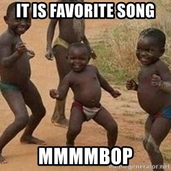 african children dancing - it is favorite song mmmmbop
