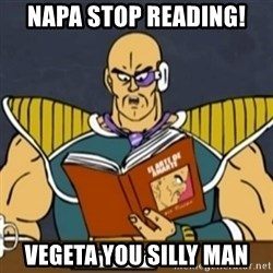 El Arte de Amarte por Nappa - NAPA STOP READING! VEGETA YOU SILLY MAN