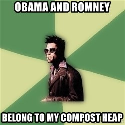 Tyler Durden - obama and romney belong to my compost heap