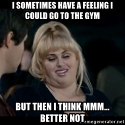 Better Not - i sometimes have a feeling i could go to the gym but then i think mmm... better not