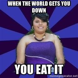 Colibritany xD - WHEN THE WORLD GETS YOU DOWN YOU EAT IT