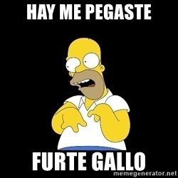 look-marge - HAY me pegaste furte gallo