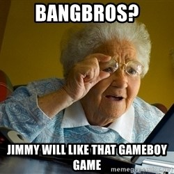 Internet Grandma Surprise - BANGBROS? jimmy will like that gameboy game