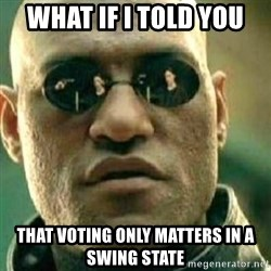 What If I Told You - What if i told you that voting only matters in a swing state