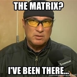 Steven Seagal Mma - The Matrix?  I've been there...