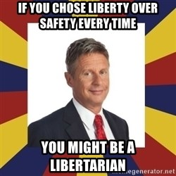 YouMightBeALibertarian - IF YOU CHOSE LIBERTY OVER SAFETY EVERY TIME YOU MIGHT BE A LIBERTARIAN