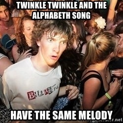 Sudden Realization Ralph - twinkle twinkle and the alphabeth song have the same melody