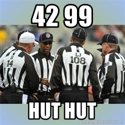 NFL Ref Meeting - 42 99 HUT HUT