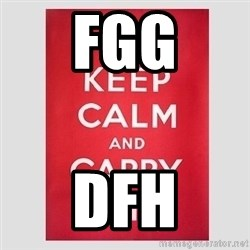 Keep Calm - fgg dfh