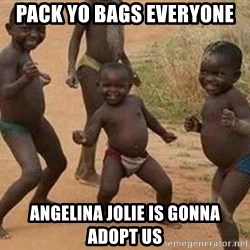 african children dancing - PACK YO BAGS EVERYONE ANGELINA JOLIE IS GONNA ADOPT US