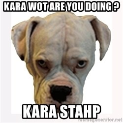 stahp guise - KARA WOT ARE YOU DOING ?  KARA STAHP