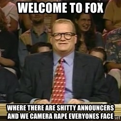 DrewCarey - Welcome to fox where there are shitty announcers and we camera rape everyones face