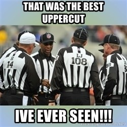 NFL Ref Meeting - That was the best uppercut ive ever seen!!!