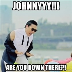 Gangnam Style - Johnnyyy!!! are you down there?!