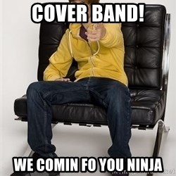 Justin Bieber Pointing - COVER BAND! WE COMIN FO YOU NINJA