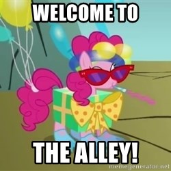 pinkie pie dragonshy - welcome to the alley!
