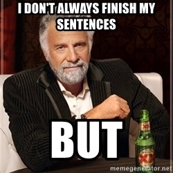 The Most Interesting Man In The World - i don't always finish my sentences  but