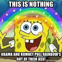 Imagination - this is nothing obama and romney pull rainbow's out of their ass!