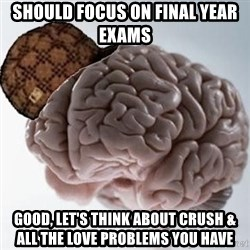 Scumbag Brain - should focus on final year exams good, let's think about crush & all the love problems you have