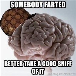Scumbag Brain - Somebody farted better take a good sniff of it