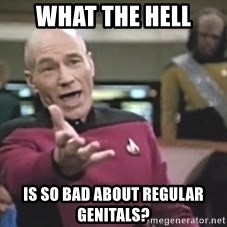Picard Wtf - What the hell is so bad about regular genitals?