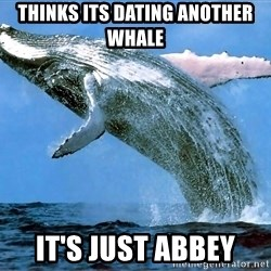 whaleeee - THINKS ITS DATING ANOTHER WHALE IT'S JUST ABBEY