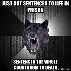 Insanity Wolf - Just got sentenced to life in prison Sentenced the whole courtroom to death